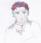 Roland Deschain gets a flower crown. by Xiilnek