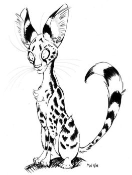 Serval is Interested - Inks by LynxGriffin