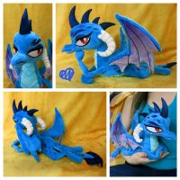 Ember the Dragon Lord Beanie Plush by equinepalette