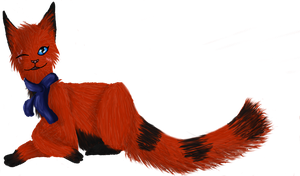 Winky Fox .:COMMISSION:. by MysticRavenclaw