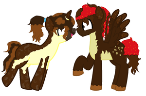 Brother and sister ponies, free raffle! by star4567980