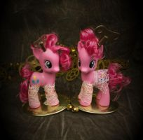 Steampunk Pinkie Pies by bluepaws21