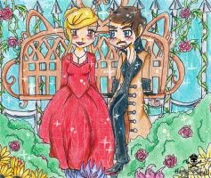 Captain Swan In the Rose Garden by flametheskull