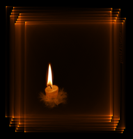 candle in frame by gosiekd