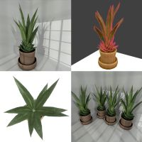 Low-poly indoor plant 2 by DennisH2010