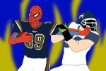 NFL Player Spider-man: St Louis Rams by ssvineman
