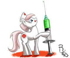 Day 28- Nurse Redheart by RavenousDrake
