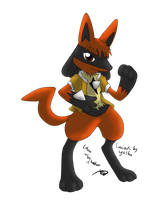 Wayne the Sub-Lucario by Threehorn