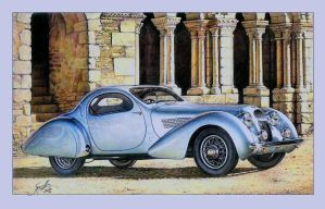 Talbot-Lago 1938 Teardrop Coupe by tonio48