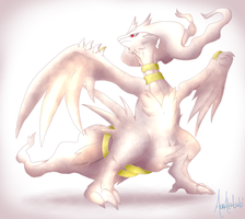 Commission: Shiny Reshiram by A-R-T-3-M-I-S