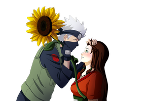 KakashixJun_sunflower kiss by Palmtop-Peanut