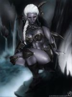 Drow Warrior by JLazarusErzebetblah