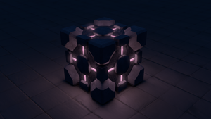Companion Cube, Lights Off Version by Krist-Silvershade