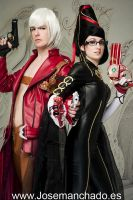 Dante and Bayonetta by Nebulaluben