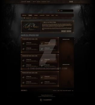 For Sale: MMO / Gaming Forum Skin by the-danzor