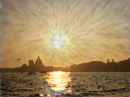 Old Masters 3 - Monet Sunset by Dreamweaver38