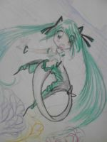 hatsune miku -mermaid- by Charming-Manatee