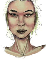 Face sketch 2 by greensubmarine