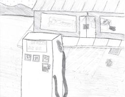The gas station by Rasvashed