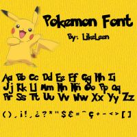 Pokemon Font by LikeLeen