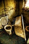 Old Tub and Toilet by EdgewaterMedia