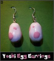 Pink Yoshi Egg Earrings by Riomy