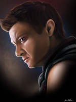 Hawkeye (Jeremy Renner) by sugarpoultry