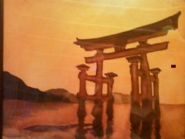 Shinto painting by Midnight--Comet