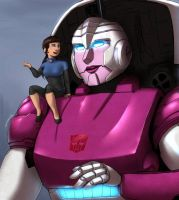 Arcee and Zeroshade Chat by Atlas-White by Q99