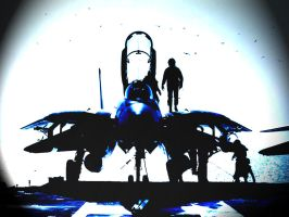 F14 Tomcat - On Carrier by B00nz