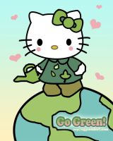 Hello Kitty Goes Green by JuneEggComfort