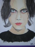 Ville Valo on canvas by xSoulOnFire88x