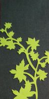 Bookmark - Neon Green Leaves by zippybluedwarf