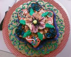 Flower Cake 3 top view by TheForest