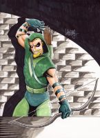 Green Arrow commission by LangleyEffect