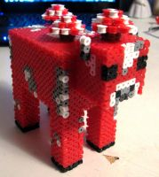 Minecraft Mooshroom by Pinknihon
