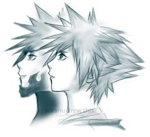 Sora and Vanitas by Soranu