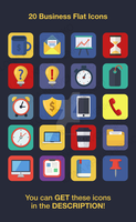 20 Business Flat Icons by mysweetmaya