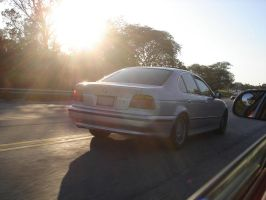 BMW 525i in the sunset by Picolini