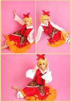 Touhou Project Toramaru Shou Blond Short Cosplay W by Leonaclick