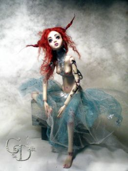 New ball jointed doll creepy H by cdlitestudio