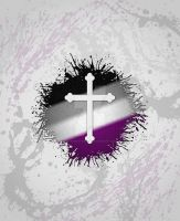 Christian Cross Asexual by lovemystarfire