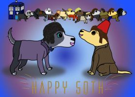 Happy 50th, Doctor Who! by Dogtorwho