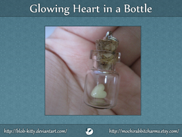 Glowing Heart in a Bottle by ShinyCation
