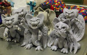 Weeping Angel Kitties are CREAPY! by stephanielynn