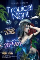 Tropical Night Party Flyer by caniseeu