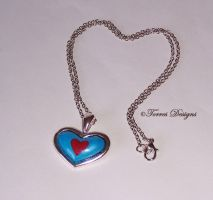 Heart Piece Container Pendant Necklace ZELDA OoT by TorresDesigns