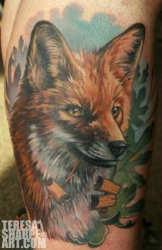 Fox critter tattoo by Phedre1985