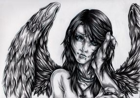 ReDo: Keep this Angel from Crying by JessicaCanvas