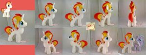 Eclipse Flare Plushie (OC stallion) by moggymawee